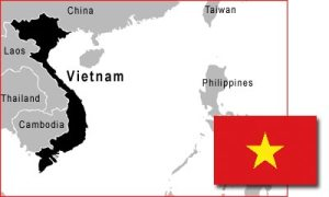 mapa vietnam